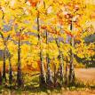 Fall Colours Acrylic Painting